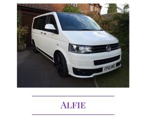 Alfie VW Caravelle wedding guest transport