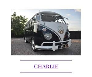 Charlie VW splitscreen campervan wedding car