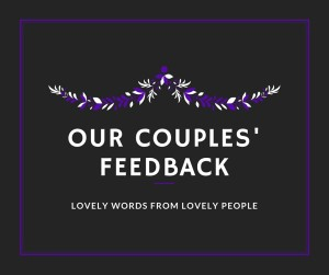 Our Couples' feedback